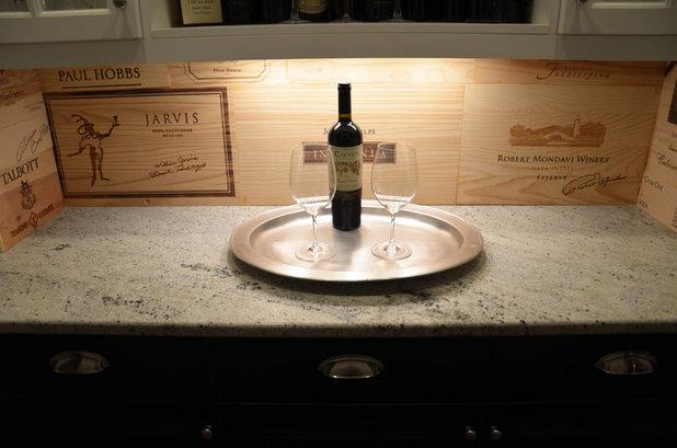 Transitional Kitchen wine pantry