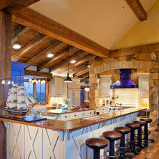 Rustic Kitchen by Daniel J. Murphy Architect, PC