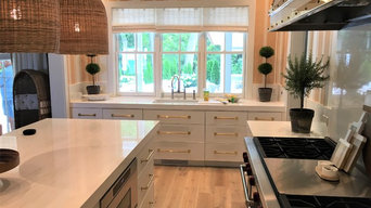 Wire Brushed Rift White Oak Cabinets