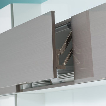 Wired-Foil Upper Cabinets from Dura Supreme with Lift Up