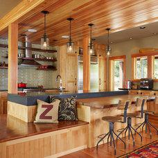 Beach Style Kitchen by Fiddlehead Design Group, LLC