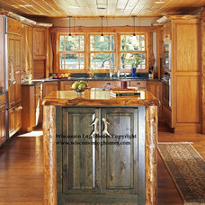 Traditional Kitchen by Wisconsin Log Homes Inc