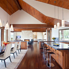 Rustic Kitchen by Charles Cunniffe Architects Aspen