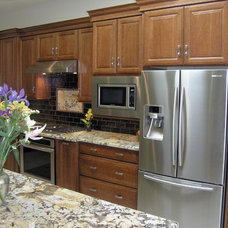 Transitional Kitchen by Woods Custom Builders