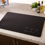 "Wolf 36"" Induction Cooktop, Black Unframed 