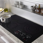 "Wolf 36"" Smoothtop Electric Cooktop, Black 