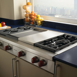 "Wolf 48"" Pro-style Gas Rangetop, Stainless Steel Natural Gas 