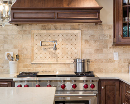 travertine kitchen backsplash open plan kitchen design ideas renovations amp photos with 2920