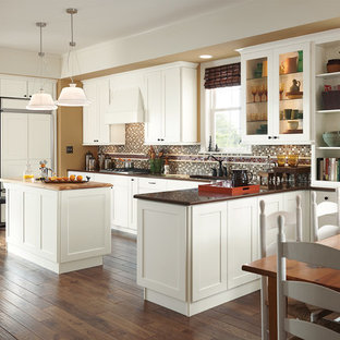 American Woodmark Cabinets Clear All Eat In Kitchen Traditional U Shaped Idea Dc