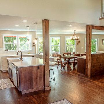 Wood Columns in the Kitchen