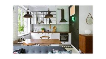 Wood finished kitchens