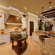 Mediterranean Kitchen by Gary Keith Jackson Design Inc