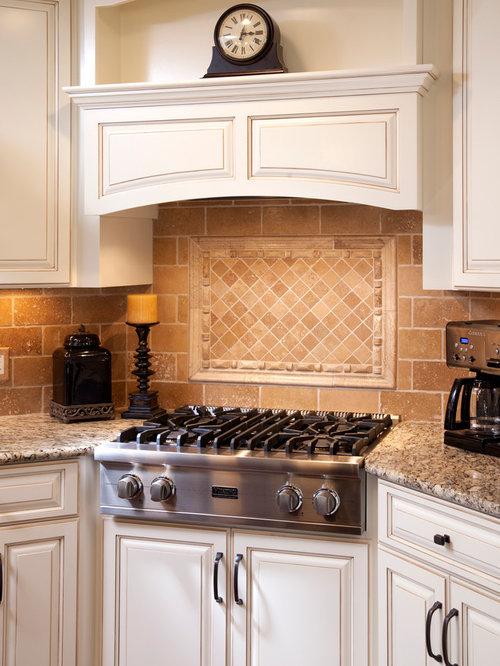 Corner range hood houzz for Corner cooktop designs kitchen