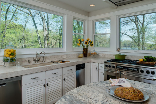 Kitchen of the Week: Cooking With Creekside Views in Maryland