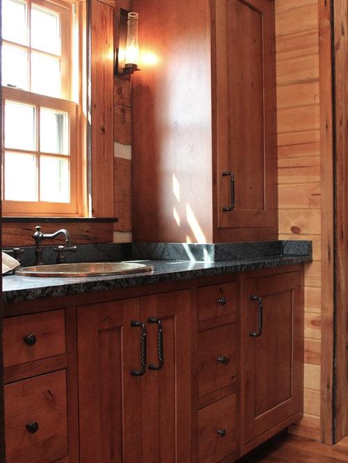 Log cabin kitchens bath design ideas pictures remodel for Log cabin kitchens and baths