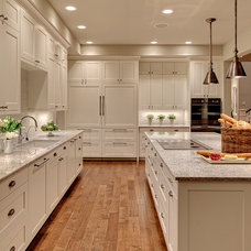 Transitional Kitchen by Jesse Bay Cabinet Co.