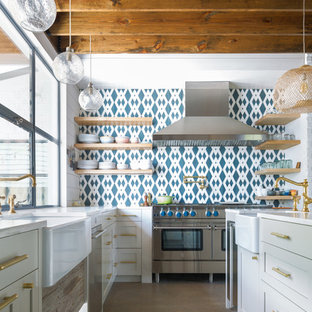 75 most popular kitchen with cement tile splashback and concrete