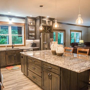 Woodsy Cabin Kitchen