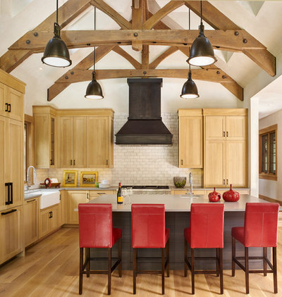 Rustic Kitchen by Structural Associates