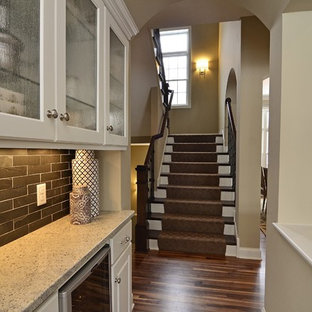 Example of a classic kitchen design in Minneapolis with granite countertops