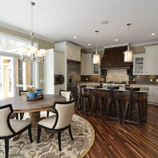 Inspiration for a timeless kitchen remodel in Minneapolis with stainless steel appliances and granite countertops