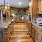 Glazed Sonoma Driftwood Porcelain Tile In White Kitchen