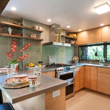 Worthington, OH Mid-Century Modern Kitchen Remodel