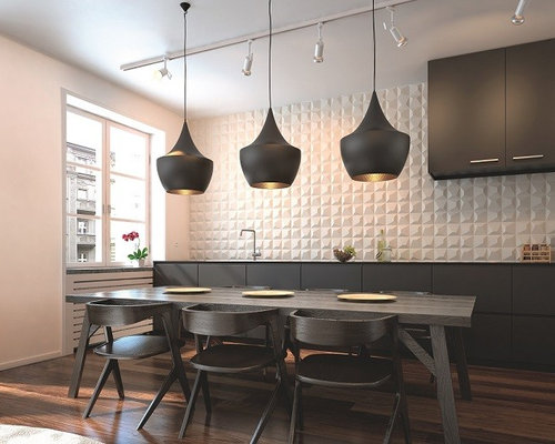 Design Ideas For A Contemporary Kitchen In Perth With White Splashback And Ceramic