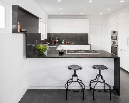 saveemail - White Kitchen Cabinets With Black Countertops