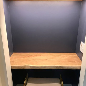Writing Nook with live edge slab
