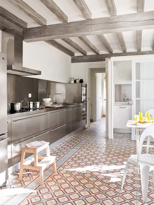 Timeless Kitchen Design Ideas stainless steel countertops tim barber interior design Urban Kitchen Photo