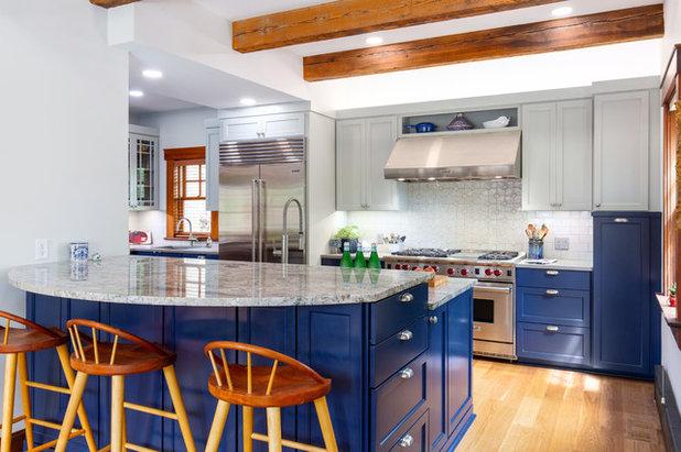 Craftsman Kitchen by Schloegel Design Remodel