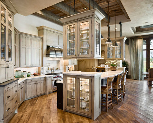 Rustic Cathedral Ceiling Kitchen Cabinets Hanging Suspended Kitchen Design Ideas Renovations