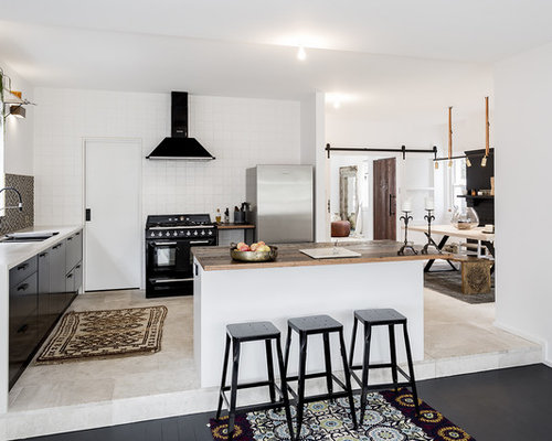 This Is An Example Of A Mid Sized Scandinavian Galley Open Plan Kitchen In  Sydney Part 83