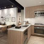 Ilona Lofts II - Modern - Kitchen - Miami - by Boudreaux Design Studio