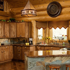 Rustic Kitchen by Summit Log & Timber Homes