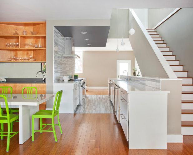 Colpo di genio. ravvivare la cucina con dettagli verdi a sorpresa