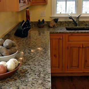 Yellow Erfly Granite Elegant Kitchen Photo In Dc Metro