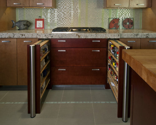 Mid Sized Asian Kitchen Design Ideas Remodel Pictures