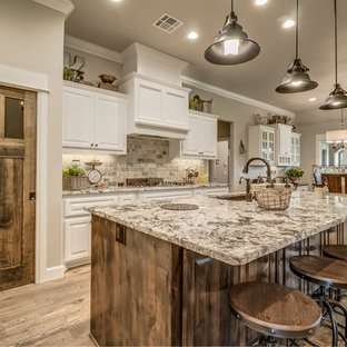 75 Most Popular Farmhouse Kitchen with Granite Countertops ... on Farmhouse Granite Countertops  id=89002