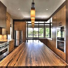 Kitchen by J. Aaron Custom Wood Countertops