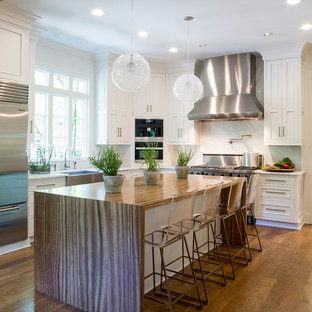Zebrawood - Transitional - Pastore™ Kitchen Island Top - Transitional - Kitchen - Philadelphia - by Grothouse Wood Countertops