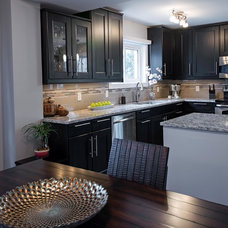 Transitional Kitchen by LindenCraft Fine Renovation and Design