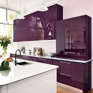 Zenit Modern Slab Mirror Gloss Viola