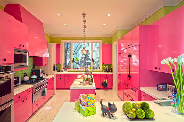 Eclectic Kitchen by RLB Architecture