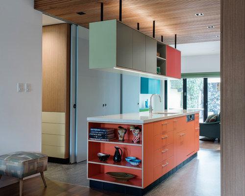 arri re cuisine avec un plan de travail en terrazzo photos et id es d co d 39 arri re cuisines. Black Bedroom Furniture Sets. Home Design Ideas