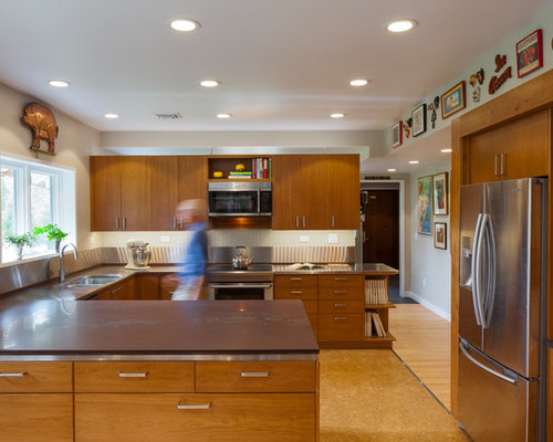 Best Kitchen With Cork Flooring And An Integrated Sink Design Ideas Remodel Pictures Houzz