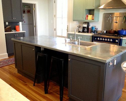 Best Modern Zinc Countertops Kitchen Design Ideas