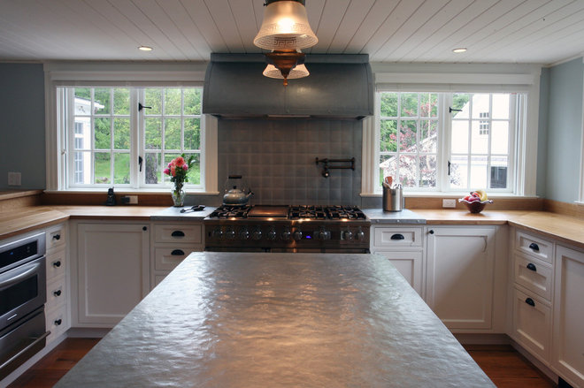 Think zinc for kitchen countertops for Zinc kitchen countertop