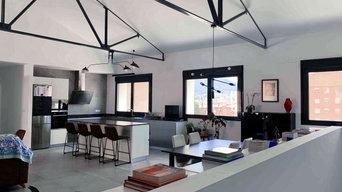 Zona diáfana | Cocina-salón-comedor | Estilo Industrial